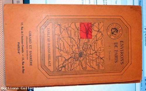 Ancienne carte les environs de Paris