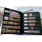 Gros catalogue de timbres 26 pages =52 recto verso remplis de timbres